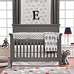 Liz and Roo 4-Piece Grey Elephant Crib Bedding Set