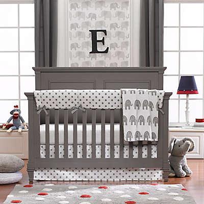 Liz and Roo Grey Elephant Crib Bedding Collection