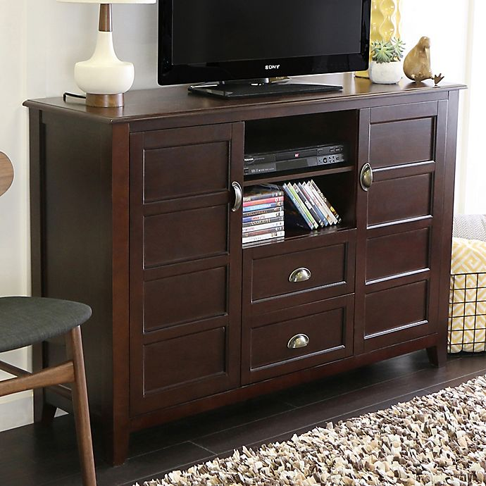Forest Gate 52 Rustic Wood Tv Stand Console Bed Bath Beyond