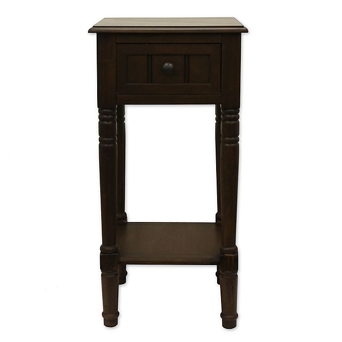 Alternate image 1 for Decor Therapy Simplify 1-Drawer Square Accent Table in Brown