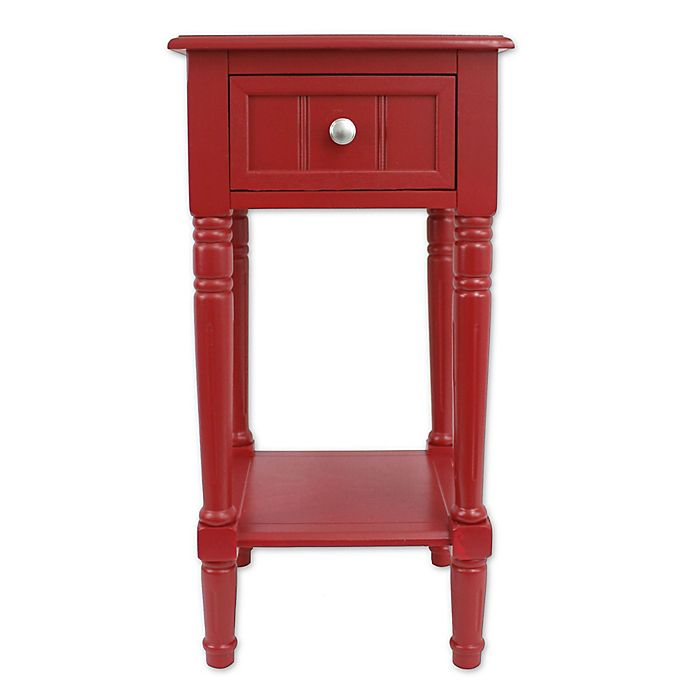 Alternate image 1 for Decor Therapy Simplify 1-Drawer Square Accent Table