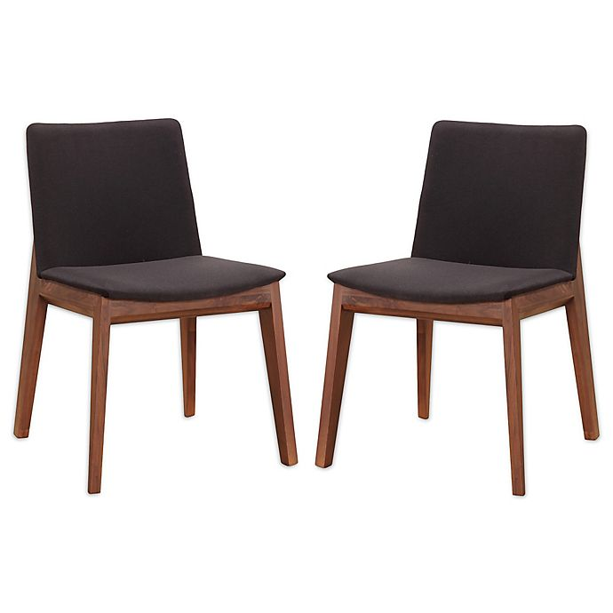 Alternate image 1 for Moe`s Home Collection Faux Leather Upholstered Dining Chairs in Black(Set of 2)