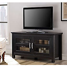 "Forest Gate 44"" Ben Traditional Wood TV Stand Console in Black"