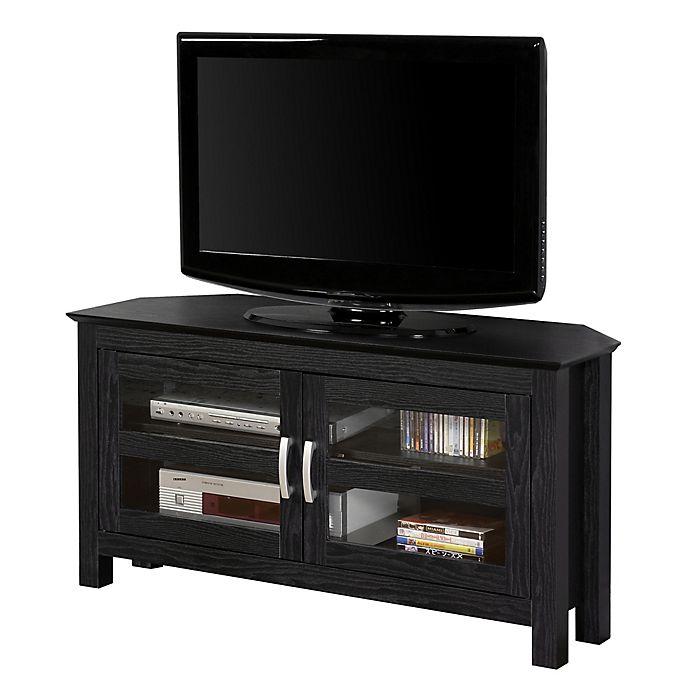 Alternate image 1 for Forest Gate™ Logan 44-Inch Corner TV Stand in Black