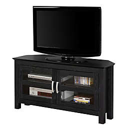 Forest Gate™ Logan 44-Inch Corner TV Stand in Black
