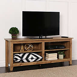 """Forest Gate 58"""" Wood Media TV Stand Console in Barnwood"""