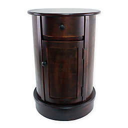 Decor Therapy Round Drum Table in Cherry