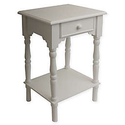 Decor Therapy Simplify Accent Table in White
