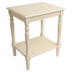 Decor Therapy Rectangular End Table in Antique White