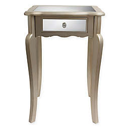 Decor Therapy Mirrored Side Table in Silver