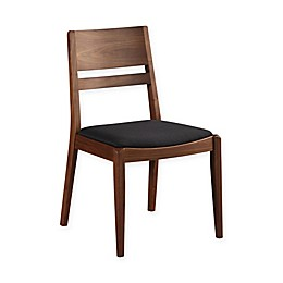 Moe's Home Collection Figaro Walnut Dining Chairs in Black (Set of 2)
