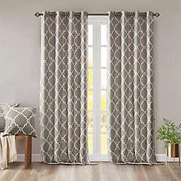 Madison Park Saratoga 108-Inch Grommet Top Window Curtain Panel in Grey