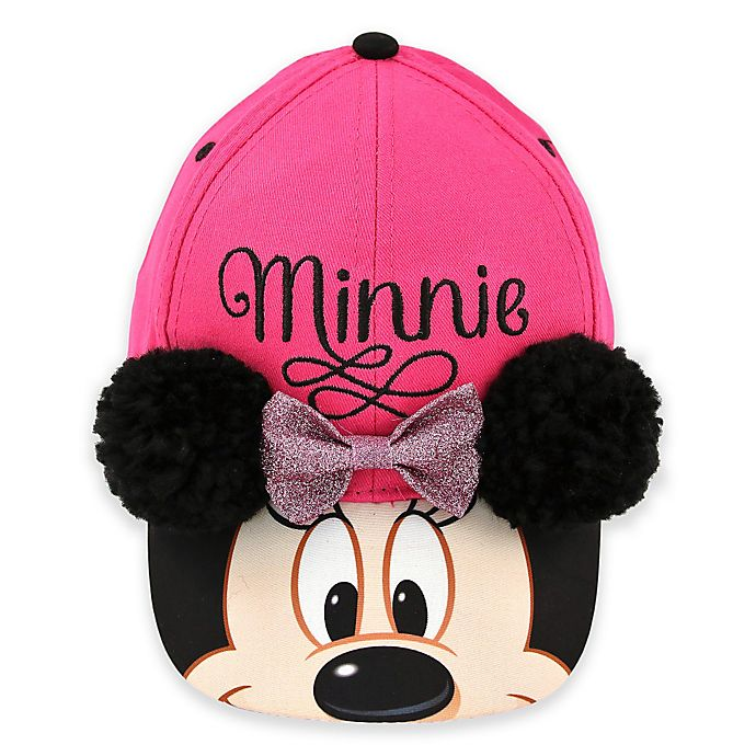 55fd95f80df Rising Star™ Minnie Mouse Pom-Pom Ears Baseball Cap in Pink