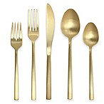 Fortessa Arezzo 5-Piece Place Setting in Brushed Gold