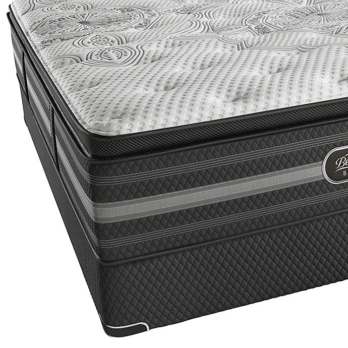 Alternate image 1 for Beautyrest Black® Katarina Plush Pillow Top Low Profile California King Mattress Set