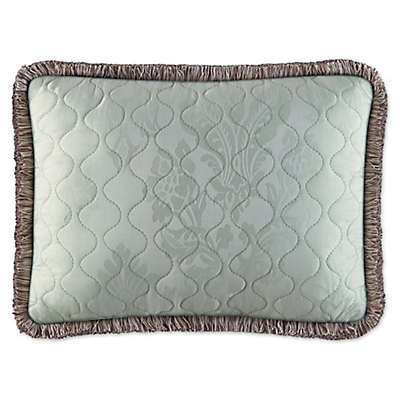 Piper & Wright Adeline Quilted Boudoir Throw Pillow in Aqua