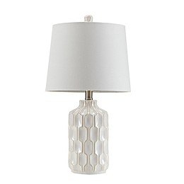 INK+IVY® Contour Table Lamp in Ivory