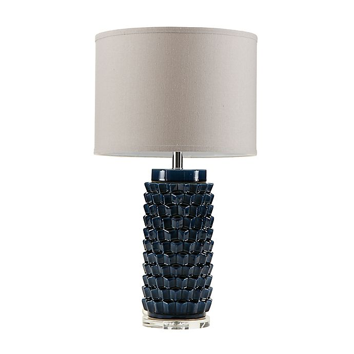 madison park signature montaigne table lamp in blue bed bath beyond. Black Bedroom Furniture Sets. Home Design Ideas