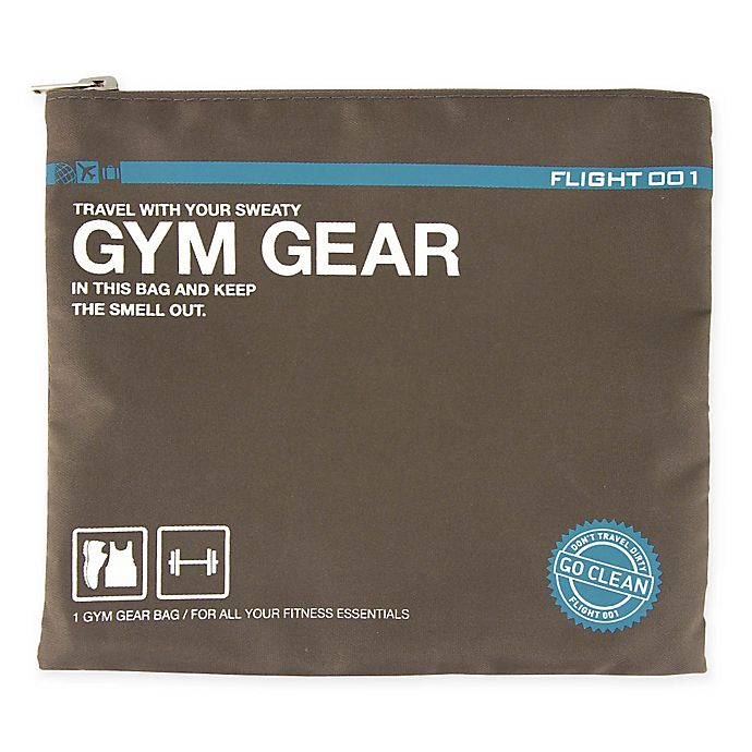 e820c9834a Flight 001 Go Clean Gym Gear Travel Bag in Charcoal