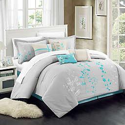 Chic Home Brooke 8-Piece Comforter Set in Beige