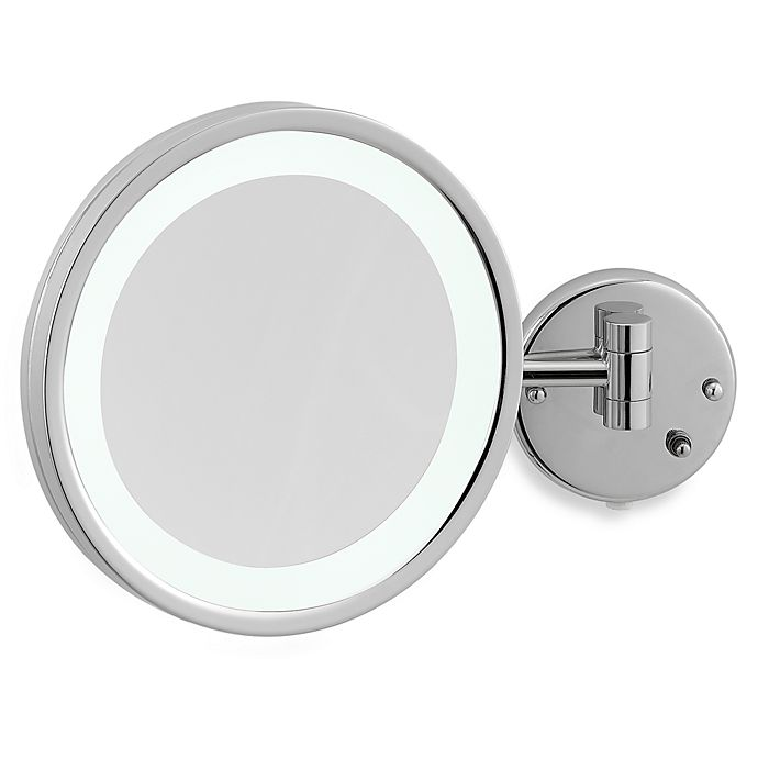 Alternate image 1 for Jerdon 5X Chrome LED Wall Mount Mirror