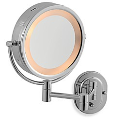 Jerdon 5X/1X Chrome Lighted Hardwired Wall Mount Mirror