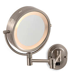 Jerdon 5X/1X Lighted Hardwired Wall Mount Mirror in Chrome