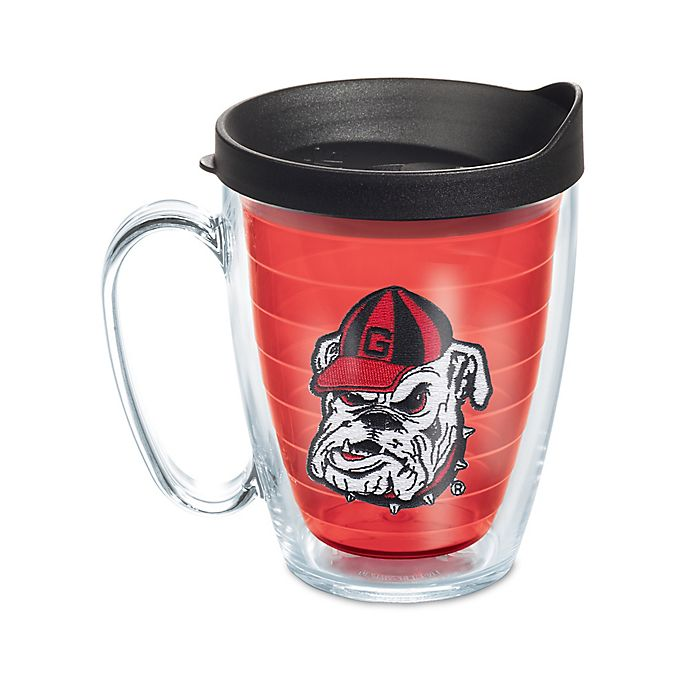 Alternate image 1 for Tervis® University of Georgia 16 oz. Mug with Lid in Red