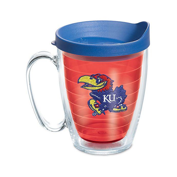Alternate image 1 for Tervis® University of Kansas 16 oz. Mug with Lid in Red