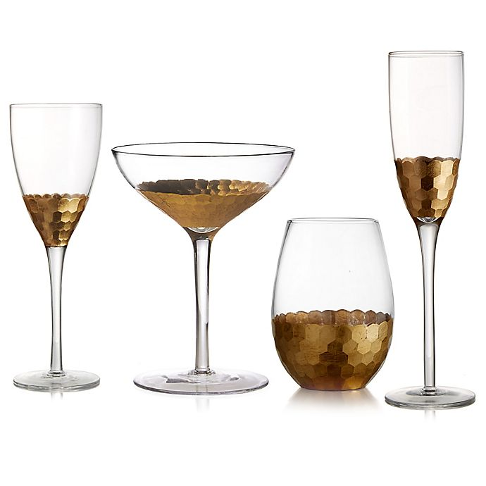 Alternate image 1 for Fitz and Floyd® Daphne Wine & Bar Collection in Gold