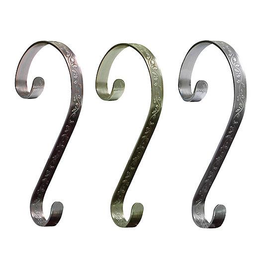 Alternate image 1 for Stocking Scrolls® 2-Pack Stocking Holders