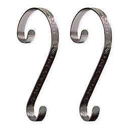 Stocking Scrolls® 2-Pack Stocking Holders in Bronze