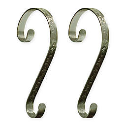 Stocking Scrolls® 2-Pack Stocking Holders in Antique Brass