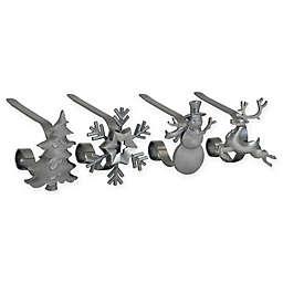 Original MantleClip® Stocking Holder 4-pack in Silver