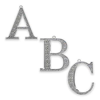 Harvey Lewis™ Silverplated Monogram Christmas Ornament with Swarovski® Crystals