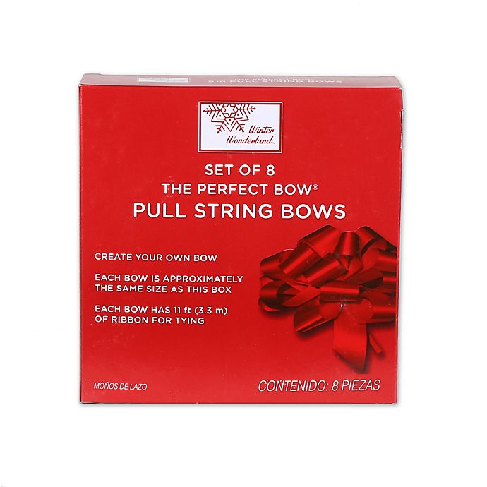 5 Inch Pull String Gift Bows In Assorted Colors Set Of 8 Bed