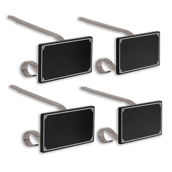 Alternate image 1 for The Original MantleClip® Stocking Holders with Chalkboard Icons (Set of 4)