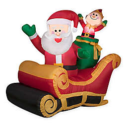 42-Inch Inflatable Outdoor Santa with Sleigh