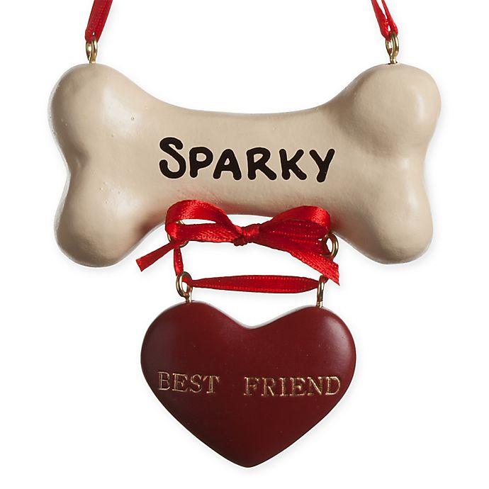 Alternate image 1 for Dog Bone Christmas Ornament