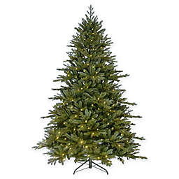Kurt Adler 7-Foot Green Pre-Lit Christmas Tree with White Lights