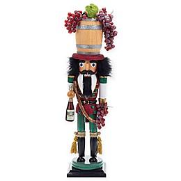 Kurt Adler Hollywood 19-Inch Wine Barrel Hat Nutcracker