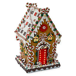 Kurt Adler 13.25-Inch Claydough Pre-Lit Christmas Gingerbread House