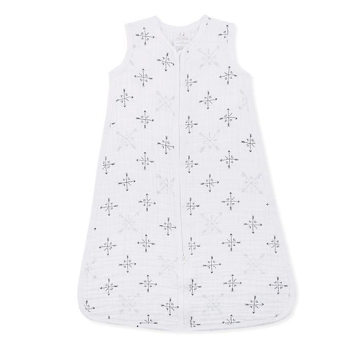 Alternate image 1 for aden + anais® Muslin Lovestruck Wearable Blanket in White/Grey