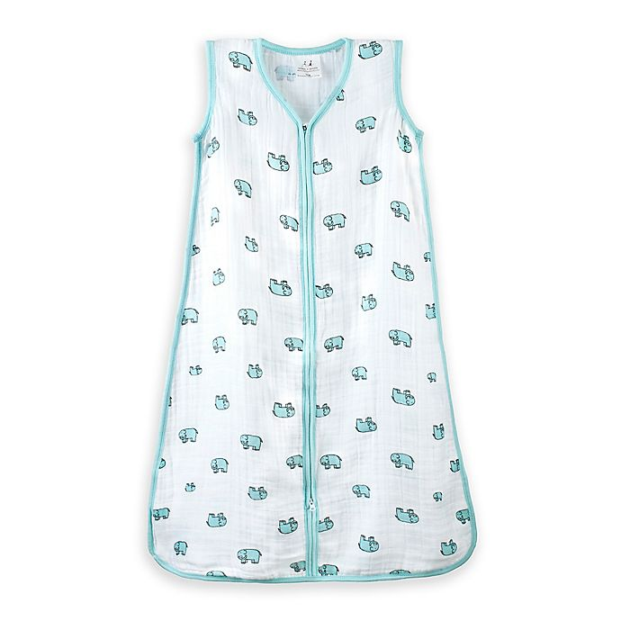 Alternate image 1 for aden + anais® Extra-Large Jungle Jam Wearable Blanket in White