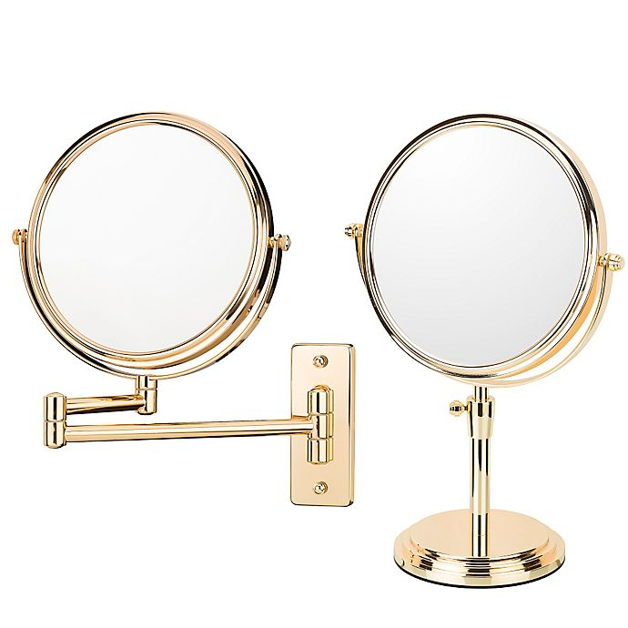 Kimball Amp Young Round Free Standing 5x Mirror In Rose Gold