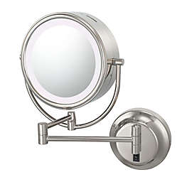 Kimball & Young Neo Modern 1x/5x Warm-Light LED Makeup Mirror in Polished Nickel