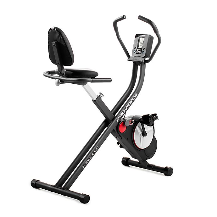 Alternate image 1 for Pro-Form® Duo Foldable Exercise Bike in Black