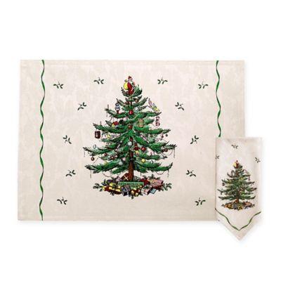 Spode Christmas Tree Linens