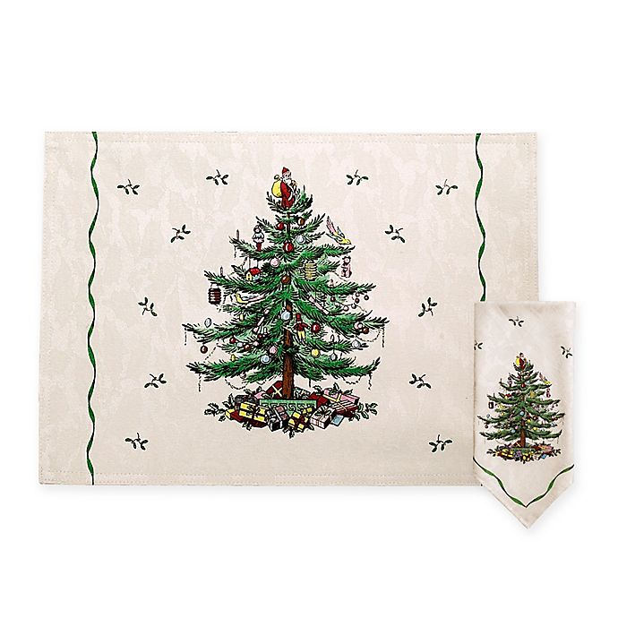 Spode® Christmas Tree Placemats and Napkins - Spode® Christmas Tree Placemats And Napkins Bed Bath And Beyond Canada
