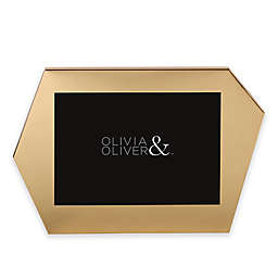 Olivia & Oliver Riley 5-Inch x 7-Inch Frame in Brushed Gold